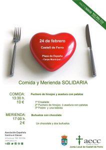 comida solidaria en Castell de ferro